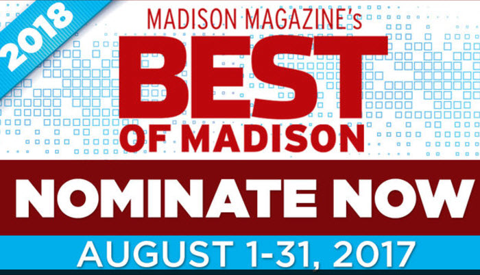 "Please Nominate Klinke Cleaners for the 2018 ""Best of Madison"" Poll"