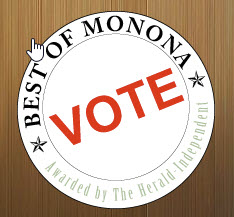 "Vote Klinke Cleaners as ""Best of Monona"""