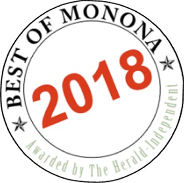 "Thank you for voting us 2018 ""Best of Monona"" for 15 years in a row!"