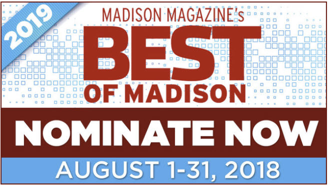 "Please Nominate Klinke Cleaners for the 2019 ""Best of Madison"" Poll"