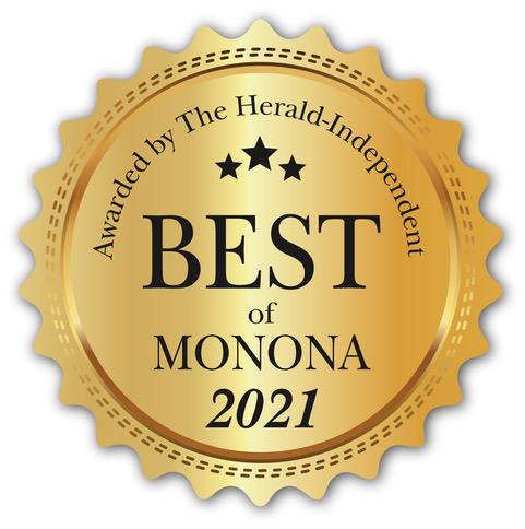 We won Best of Monona for 2021!
